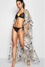 Kady Scarf Print Maxi Beach Kimono