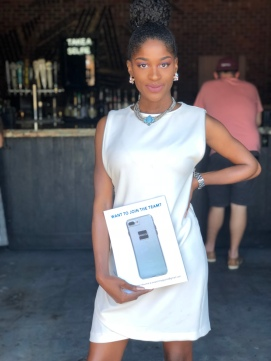 Striking a pose at FSU's Swatch Magazine release party. I held the magazine backwards lol!